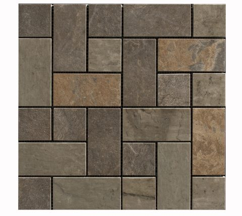 FL-126 URBAN SLATE GOLDEN DARK MOSAIC